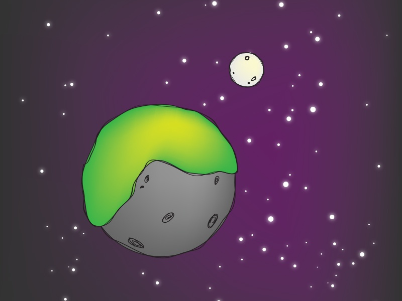 Planet X unknown planet colorful cute stars galaxy moon alien space planet