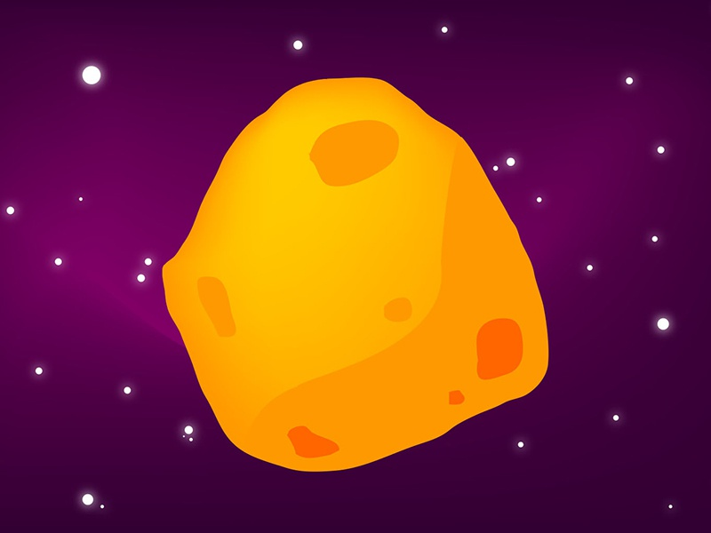 Space Cheese game art illustration stars colorful asteroid cheese galaxy space