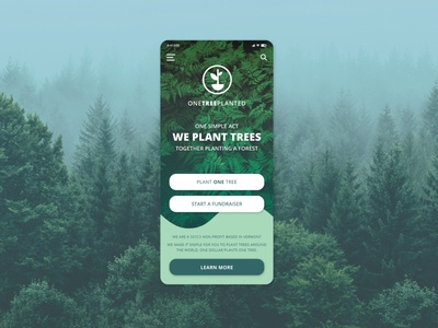 ONETREEPLANTED - Daily UI Challenge
