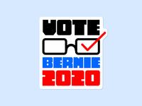 Vote Bernie 2020 Sticker