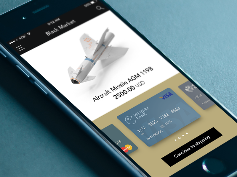 Daily UI #002: Credit Card Checkout missile militaru ios checkout card credit dailyui ui