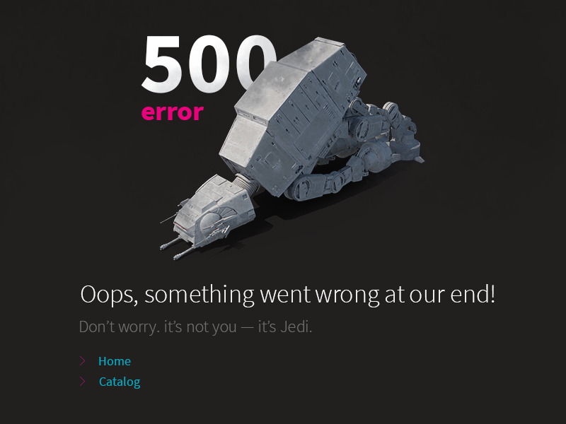 500 Error yarkie web at-at walker-g03 wars star day may 4th page error 500