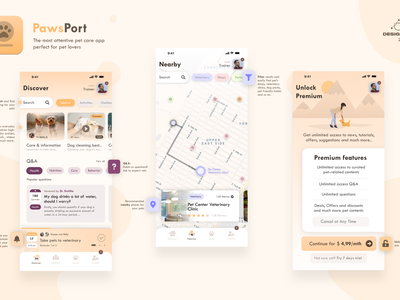 Designflows 2020 Contest | Pets Lover App app design mobile ui contest ui app designflows
