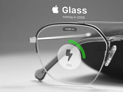 Apple Glass - Battery Charging Concept iglass appleglasses appleglass appleglass ux ui concept apple