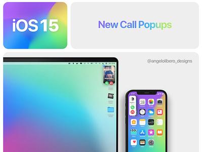 iOS 15 Call Popup redesign iphone 13 iphone 12 iphone apple ios ui ux ios15