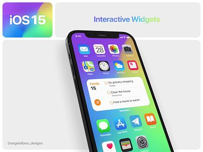iOS 15 Interactive Widgets interaction design widgets iphone13 iphone12 iphone ios ios15 ios14