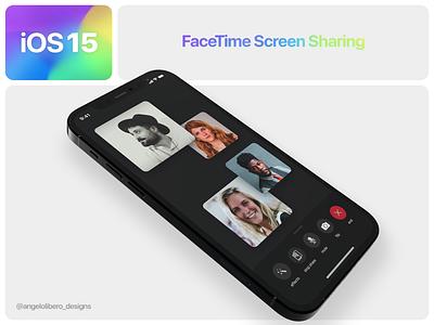 iOS 15 FaceTime Screen Sharing 🎥 screensharing facetime iphone13 iphone12 ios ios14 ios15