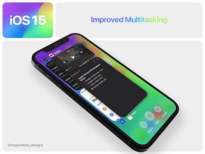 iOS 15 Improved Multitasking - Concept video 🎥 multitasking iphone13 iphone12 ios ios14 ios15