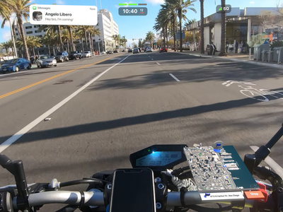 AR Navigation on a motorcycle 🏍 👓🎥 apple glasses apple glass mixed reality augmented reality