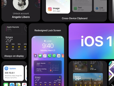 iOS 15 Banner in pure Apple Style iphone12 iphone13 wwdc2021 ios14 ios15