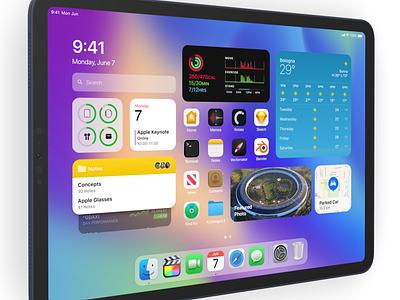 New home screen  - iPadOS 15 concept home screen iphone wwdc21 ipad ipad pro ipados ipados14 ipados15