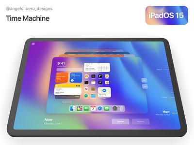Time Machine for iPadOS 15 concept ipad ipad pro wwdc2021 wwdc21 wwdc ios 15 ipados 15 ipados
