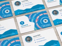 Tickete Business -Perspective Business Cards Mockup