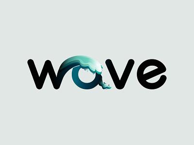 Logo wave lettering wave adobe flat illustrator logo design word logo branding logo typography vector illustration