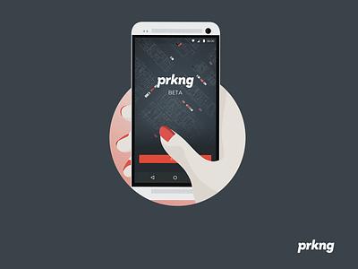Prkng app : Mode illustration flat parking mode slider howto app prkng