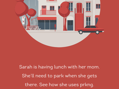 Prkng app : Tour mobile principle app prkng gif illustration flinto ui tour