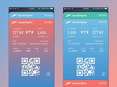 Boarding Pass boarding pass iphone 8 ticket app design mobile ui