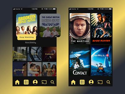 Entertainment App tv app iphone 8 app design mobile ui