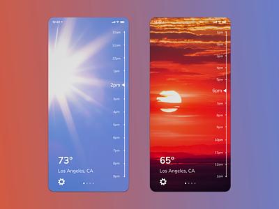 Weather App weather app iphone 11 mobile app design ui