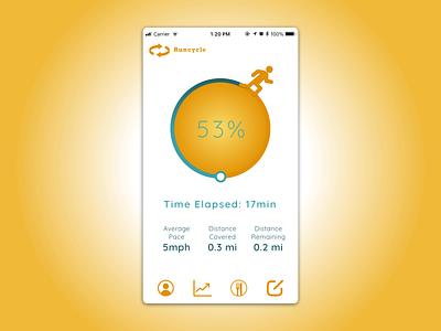 Fitness App fitness app iphone 8 mobile app design ui