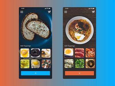 Food Ordering App food ordering app customizable iphone 11 mobile app design ui