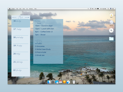 Notes Widget desktop app to do list schedule blue ui desktop widget
