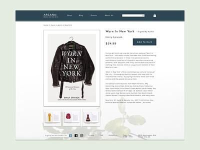 E-commerce Bookstore Product Page ux design product page ecommerce website desktop design ui