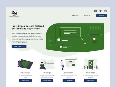 Homepage for Software Development Company design figma uidesign website ui desktop software development