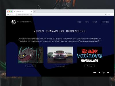 Landing Page for Voice Actor portfolio design website branding voice actor desktop landing page