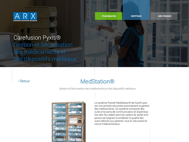 ARX  product page webdesign
