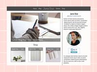 Basic Clean Author Site