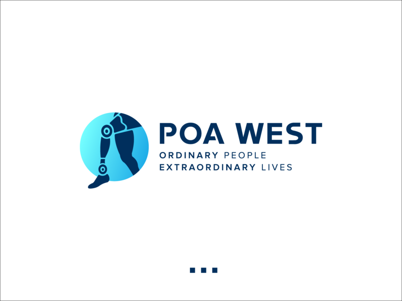 Poa West Prosthetic leg lower limb mechanical prosthetics prosthetic artificial intelligence analyse health care abstract icon logo illustration design branding