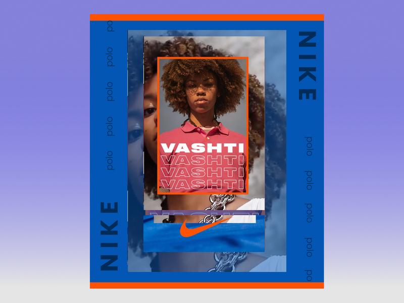 Nike- redesign minimal mobile app design typography ui ux banner vector web branding design