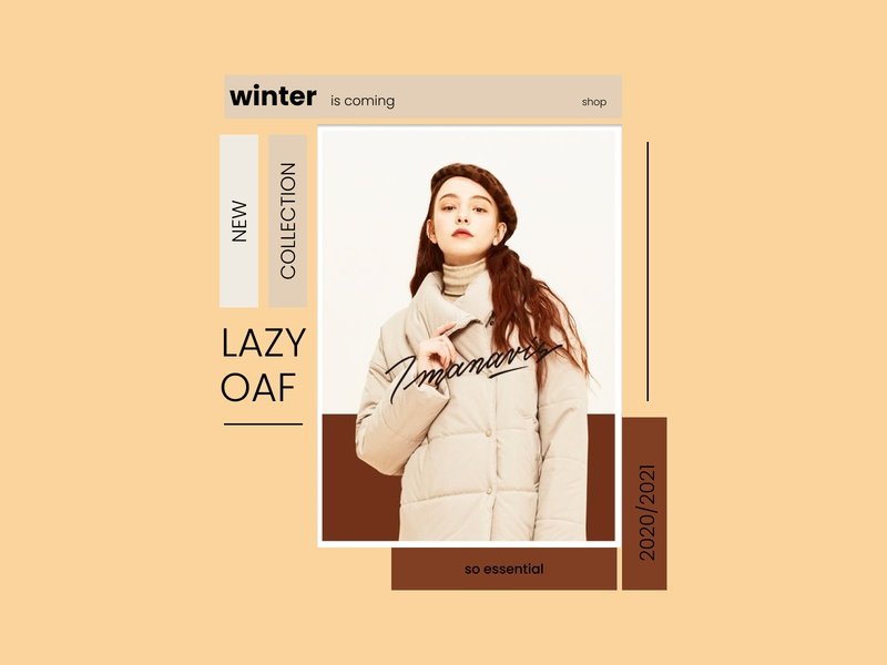 Banner -winter is coming- ux beauty ui mobile app design typography web branding vector design fashion banner