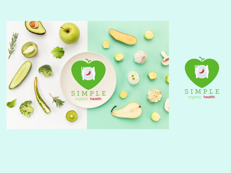 Organic Health Logo animation flat illustration branding vector logo design ux ui logo design
