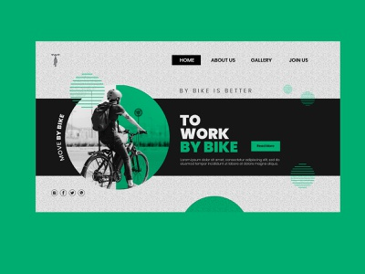 Bike Ride animation minimal beauty logo design vector website design typography mobile app design illustration branding