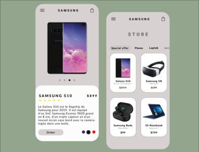 Samsung Store App