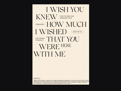 I wish you were here — Poster