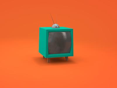 Retro TV set c4d cinema 4d animation retro tv 3d