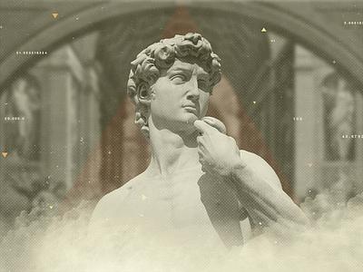 TV show ident / Styleframe / Michelangelo's David motion design motion graphics michelangelo david compositing collage photoshop styleframe