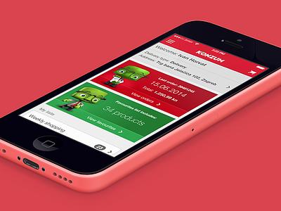 Konzum mobile app five iphone ios mobile app ui store dashboard