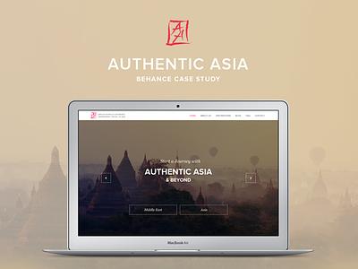 Authentic Asia Travel website web design website design website digital design travel destination ui ux case study behance