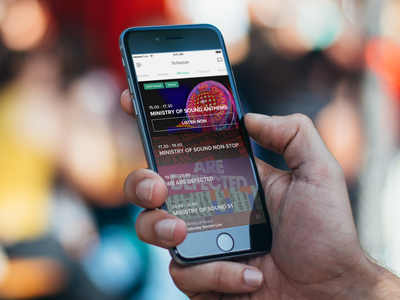 Ministry of Sound music player ui ux app design ios five iphone mobile music player interface list