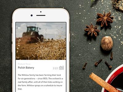 Farmigo for iOS - Local producer details fresh groceries fivenyc details mobile app ios farmigo