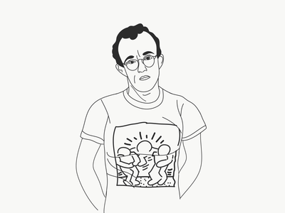 Keith Haring line drawing line drawing illustration