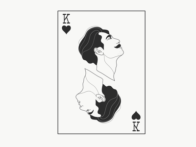 Hail to the king line drawing illustration
