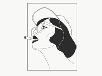 Hat girl illustration