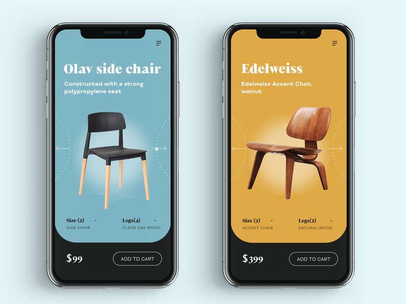 Furniture app app design ux app