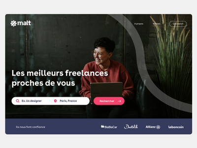 Freelance platform hero dailyui landingpage webdesign ui ux