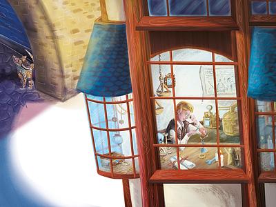 The Clockmaker of Steamlot shallot illustration legend book